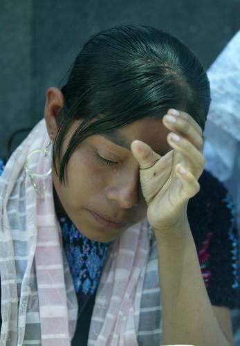 Femme appartenant à Las Abejas apprenant la décision de la Cour suprême de justice de la nation