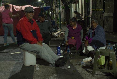 campement otomi, colonia roma, centre-ville de Mexico